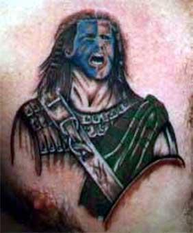 Scottish Warrior Tattoos