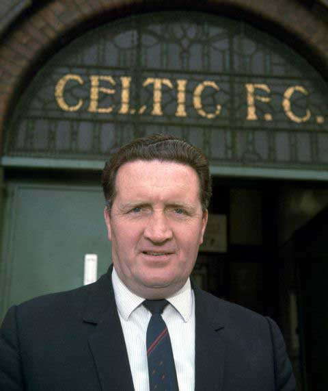 Former Celtic boss Jock Stein, who was voted the best ever Scottish manager